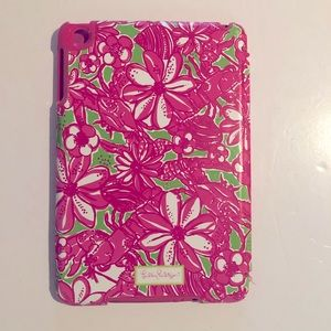 LILLY PULITZER Pink Floral I Pad Mini TABLET CASE